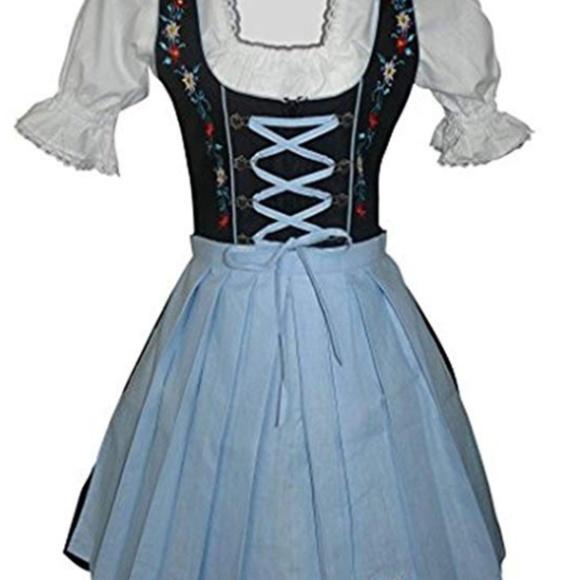 f599b0c4926fd 3pc. Bavarian Dirndl Mini Dirndl Dress - Size 6
